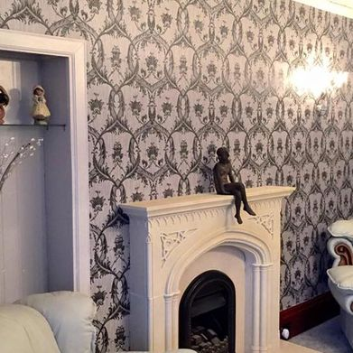 A recently wallpapered room